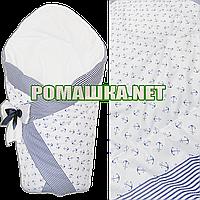 Демисезонный конверт-плед на выписку верх, подкладка 100% хлопок утеплитель холлофайбер 90х90 2910ДМ Белый 3