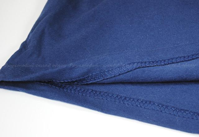 Темно-синяя мужская классическая футболка