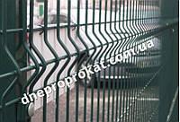 Сварная сетка оцинкованная с полимерным покрытием Рубеж 4*4 2,5*1,0. Секционный забор.