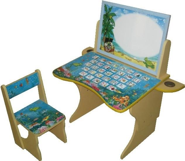 Парта Baby Elit со стулом и двухсторонним мольбертом Остров сокровищ