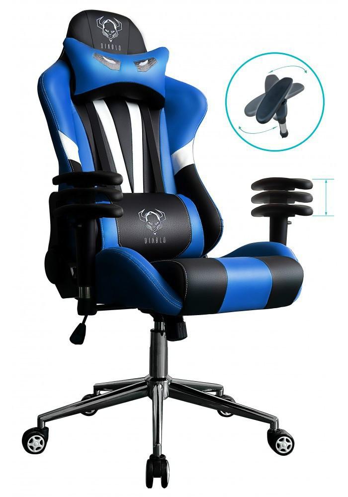 Ігрове крісло DIABLO X-EYE чорно - синє