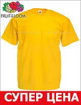 Мужская Футболка Классическая Fruit of the loom Солнечно-Жёлтый 61-036-34 S, фото 3