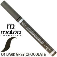 Malva - Подводка лайнер-маркер для бровей M-426 Тон 01 темный серо шоколадный