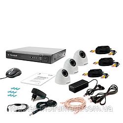 Комплект видеонаблюдения Tecsar AHD 3IN DOME