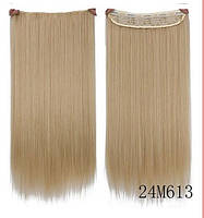 Волосы на заколках Накладная прядь волосы на заколках ТЕРМОСТОЙКИЕ волосы блондин