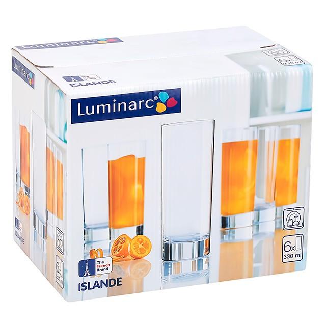 Набір високих стаканів Luminarc Islande 330 мл 6 шт J0040