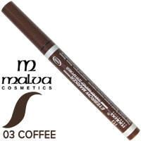 Malva - Подводка лайнер-маркер для бровей M-426 Тон 03 кофе
