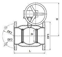 Кран 11с338п Ду100-300 (з редуктором) вода, газ, нафтопродукти