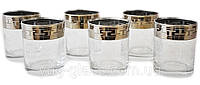 "Набор стаканов 305 мл для виски GE01-405 рисунок ""Греческий узор"" 6 шт."