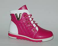 Демисезонная обувь для девочек Kellaifeng (KLF) арт.TJ-163183-3 малиново-белый (Размеры: 27-32)
