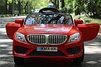 Детский электромобиль BMW M 3270 EBLR-3 с кожаным сиденьем, на резиновых колёсах,красный***
