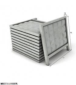 Бетонный забор ПО-2