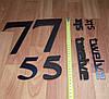 3D-Часы настенные большие с надписями (диаметр 1 м) черные  [Пластик], фото 4