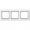 Рамка 3 поста белый/серебряный штрих Legrand Valena 770493