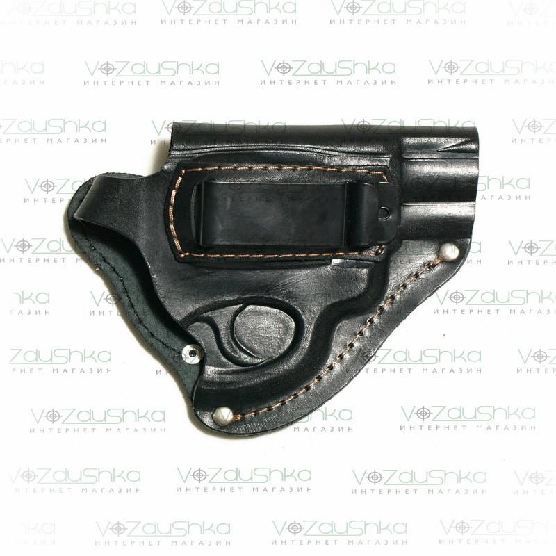 Поясная кобура для револьвера со скобой для скрытого ношения, кожа