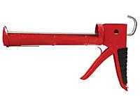 Intertool HT-0023 Пистолет для силикона 225мм с обрезиненной рукояткой