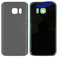 Задняя панель корпуса (крышка аккумулятора) для Samsung Galaxy S7 G930F, оригинал, сребристая
