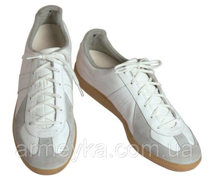 Кожаные тренировочные кроссовки Bundeswehr (белые). ВС Германии, оригинал.