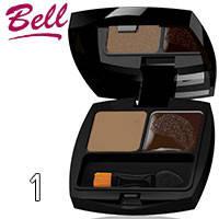 Bell - Набор для коррекции бровей Ideal Brow Set Тон 01 светлый беж