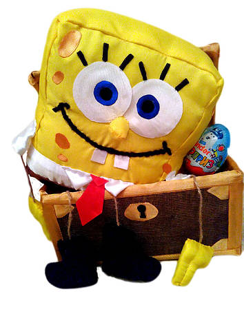 Подарок детский букет из конфет Спанч Боб, фото 2