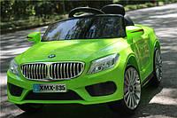 Детский электромобиль BMW M 3270 EBLR-5 с кожаным сиденьем, на резиновых колёсах,салатовый***