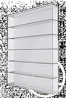 Сотовый поликарбонат Solidplast UV 4H/2, прозрачный 6м*2,1м*4мм.