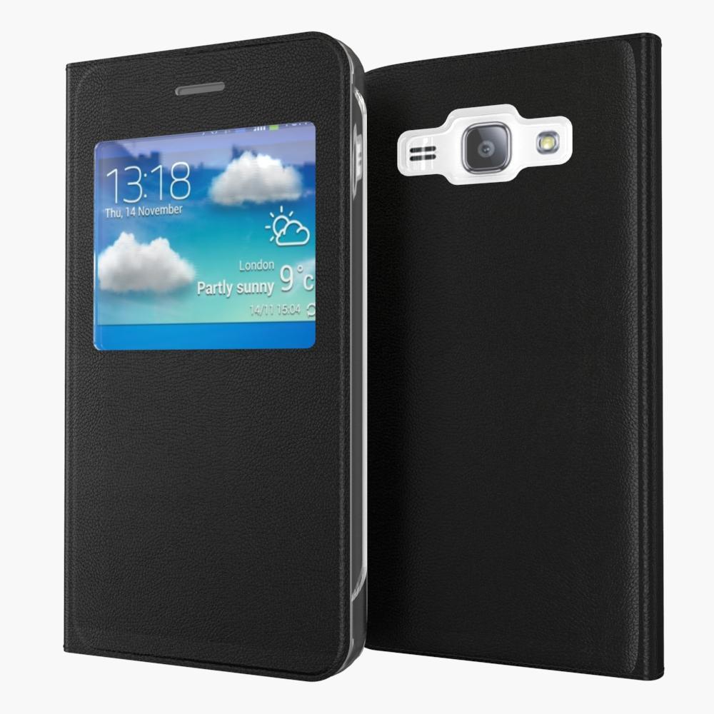 Чехол Samsung J510 / J5 2016 книжка с окном черный