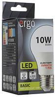 Светодиодная лампа ERGO, 10W, 4100K, нейтрального свечения, цоколь - Е27, 1 год гарантии!