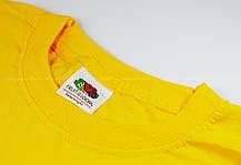 Мужская Футболка Классическая Fruit of the loom Солнечно-Жёлтый 61-036-34 L, фото 2