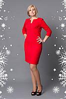 Изысканное женское платье красного цвета