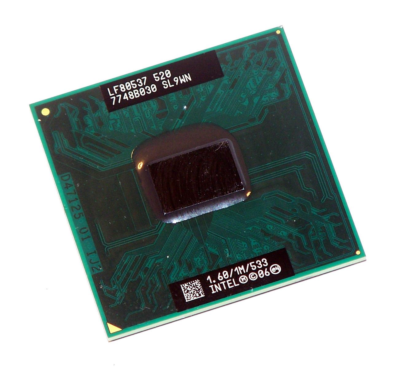 Процессор Intel Celeron M 520 SL9WN 1.6GHz  бу