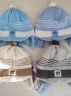 Польские вязанные шапки для грудничков
