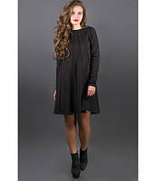 Платье с декоративными строчками Сити черный р.44-52