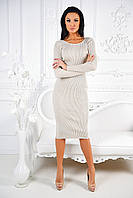 Стильное платье футляр ниже колен с вырезом на спине.  Разные цвета.