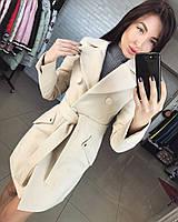 """Женское стильное кашемировое короткое пальто """"Патриция""""  В10581, фото 1"""