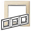 Рамка 3 поста світле дерево/срібний штрих Legrand Valena 770383