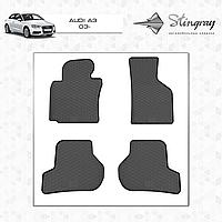 Коврики резиновые в салон Audi A3 c 2003- (4шт) Stingray 1001014