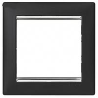 Рамка 1 пост ноктюрн/серебряный штрих Legrand Valena 770391
