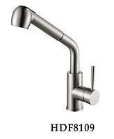 Смеситель для кухни из нержавеющей стали с вытяжным шлангом Falanco HDF 8109