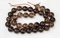 Раухтопаз (дымчатый кварц), бусины, шар 12 мм