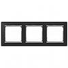 Рамка 3 поста ноктюрн/серебряный штрих Legrand Valena 770393