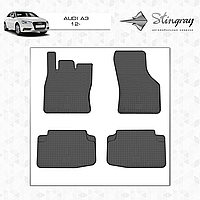 Коврики резиновые в салон Audi A3 c 2012 (4шт) Stingray 1001024