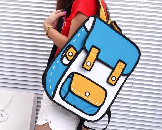 Мультяшные 2Д 2D рюкзаки