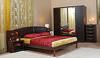 Ліжко, 2 тумби, комод, шафа 4 дв.