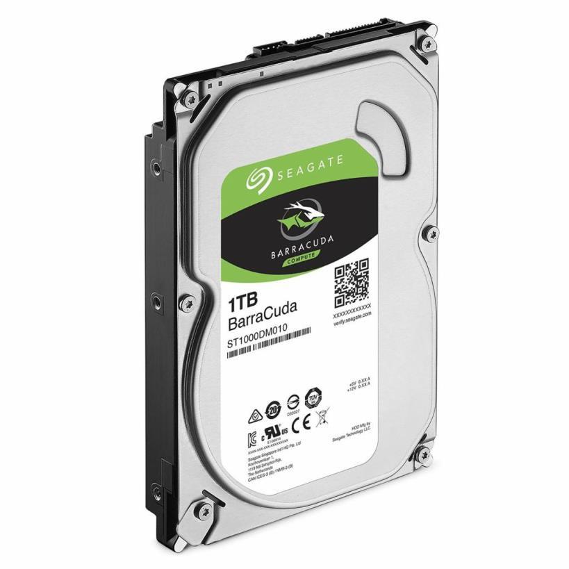Жесткий диск для компьютера 1 Тб Seagate BarraCuda, SATA 3, 64Mb, 7200