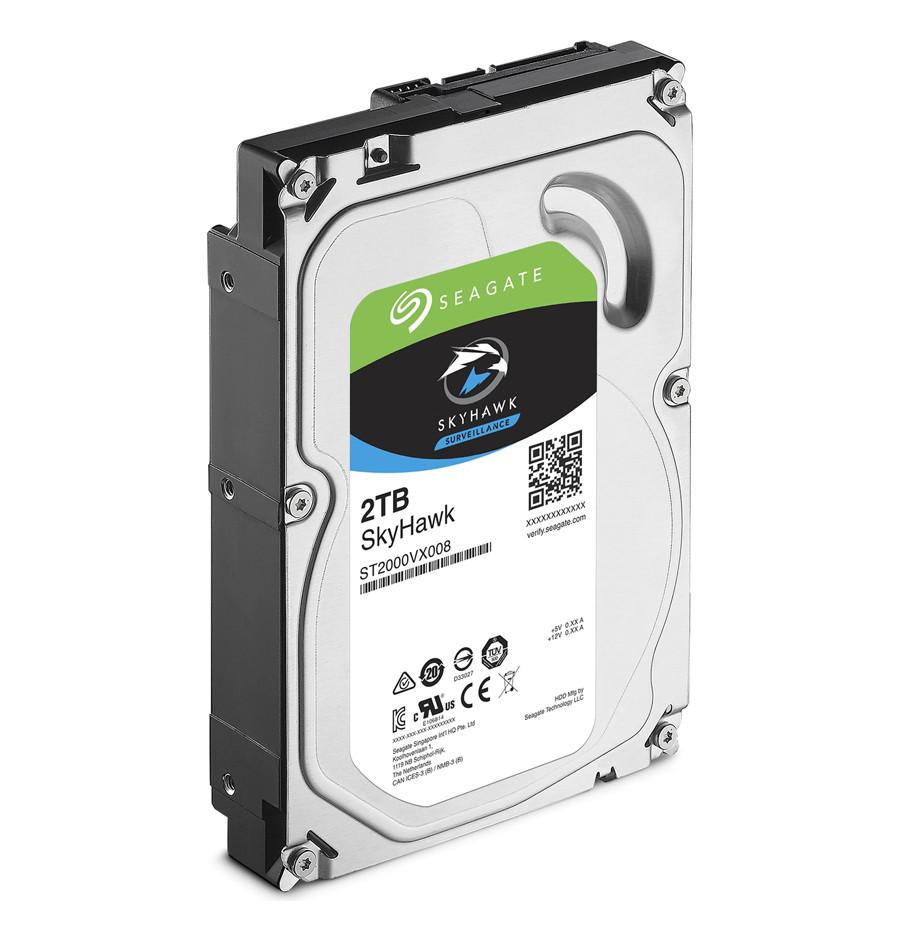 Жесткий диск для компьютера 2 Тб Seagate SkyHawk Surveillance, SATA 3,