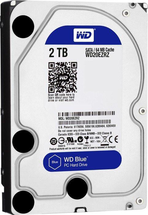 Жесткий диск для компьютера 2 Тб Western Digital Blue, SATA 3, 64Mb, 5