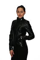 Кожаная куртка, воротник стойка, фото 1