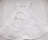 Детское нарядное платье для девочки и обруч на 3 - 6 лет