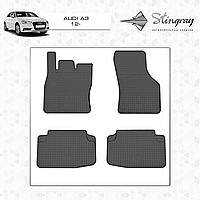 Коврики резиновые в салон Audi A3 c 2012 передние (2шт) Stingray 1001022